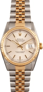 Pre Owned Datejust Rolex 16233 Silver Index