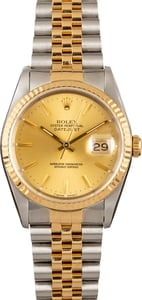 Men's Rolex Datejust 16233 Champagne Dial