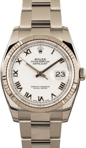 Rolex Datejust 116234 White Dial