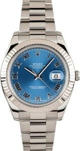 Certified Rolex Datejust 116334 Blue Roman