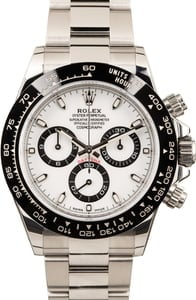Used Rolex Daytona 116500 White Dial