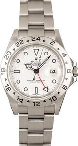 Rolex Explorer II 16570 White 100% Authentic