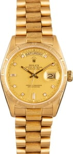 Rolex President 18K Bark Finish Day Date 18078