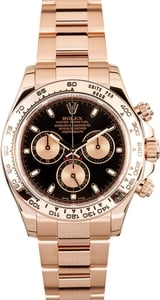 Rose Gold Daytona 116505 Black Dial