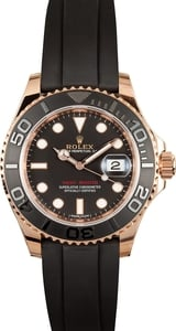 Rolex Everose Yachtmaster 116655 Leather Strap