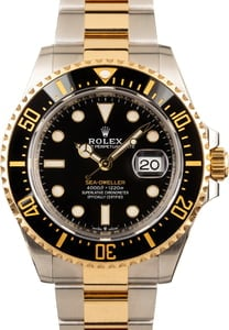 Rolex Two Tone Sea-Dweller 126603 Ceramic Bezel
