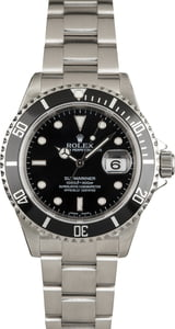 Pre Owned Rolex Submariner 16610 Stainless Steel