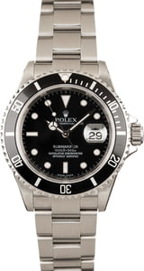 Used Rolex Submariner 16610 Black Dial