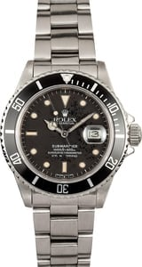 Black Rolex Submariner 16800 Mens x