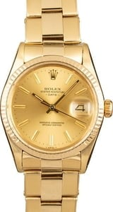 Vintage Yellow Gold Rolex Date 15037