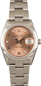Pre-Owned Rolex Date 15200 Salmon Dial
