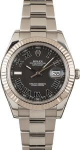 Datejust II Rolex 116334 Black Roman