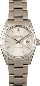 Authentic Rolex Datejust 16030 Silver Dial