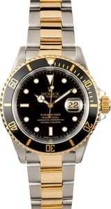 Black Rolex Submariner Steel & Gold 16613