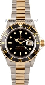 Rolex Two-Tone Submariner 16613 Men's