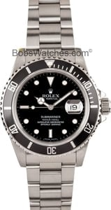 Rolex Men's Black Submariner Transitional 16800