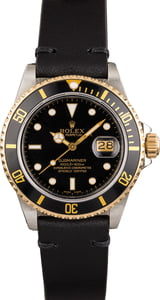 Pre Owned Rolex Submariner 16803 Leather Bracelet