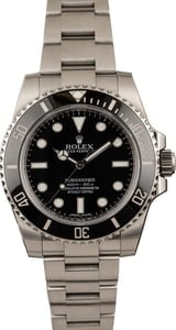 Pre Owned Submariner Rolex 114060 Ceramic Insert Black