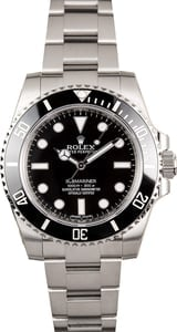 Rolex No Date Submariner Black 114060