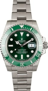 Used Rolex 116610V Green Anniversary Submariner