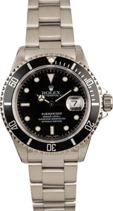 Submariner Rolex 16610 Black Dial