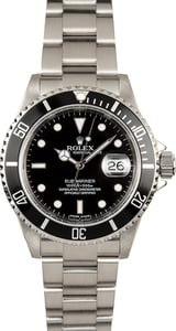 Submariner Rolex 16610T Stainless Steel Watch