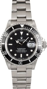 Submariner Rolex Black 16610 100% Genuine