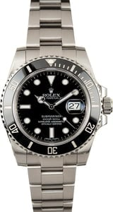 PreOwned Rolex Submariner 116610LN Black Ceramic Bezel