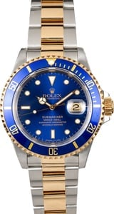 Submariner Rolex Blue 16613