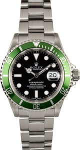 Submariner Rolex Green Anniversary 16610V