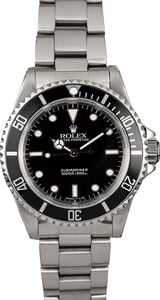 Submariner Rolex No Date Steel 14060