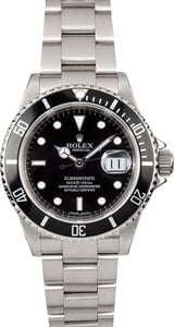 Submariner Rolex Steel 16610T Serial Engraved