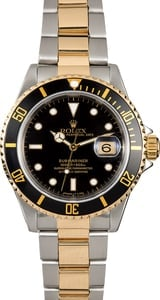 Submariner Two-Tone Rolex Black 16613