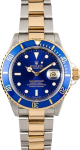Two-Tone Rolex Blue Dial Submariner 16613
