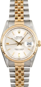 Two-Tone Rolex Datejust 16233 Silver Dial