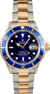 Two Tone Rolex Submariner 16613 Blue Bezel