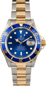 Two-Tone Submariner 16613 Blue Dial
