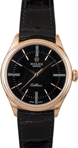 Unworn Rolex Cellini 50505 Everose with Black Dial