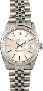 Used Mens Rolex Datejust 16030 Silver Dial