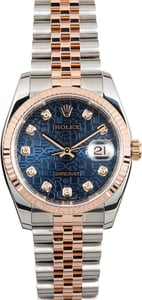 Men's Rolex Stainless and Rose Gold Datejust 116231