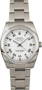 PreOwned Rolex Air King 114200 White Dial