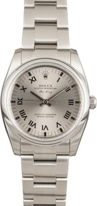 Rolex Air King 114200 Rhodium Roman Dial
