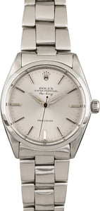 PreOwned Rolex Air-King 5500 Steel Silver Dial