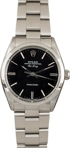 PreOwned Rolex Air-King 5500 Black Dial with Steel Oyster