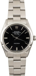 Used Rolex Air-King 5500 Black Dial with Steel Oyster