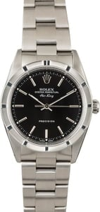 Used Rolex Air-King 14010 Black Dial