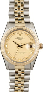 Rolex Date 15053 Champagne 'Pie Pan' Dial