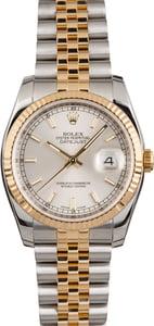 PreOwned Rolex Datejust 116233 Silver Dial Men's Watch
