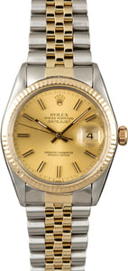 Rolex Datejust 16013 Champagne Dial Two Tone Watch