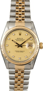 Used Rolex Datejust 16013 Diamond Dial